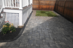 Rear Yard Paver Install Complete